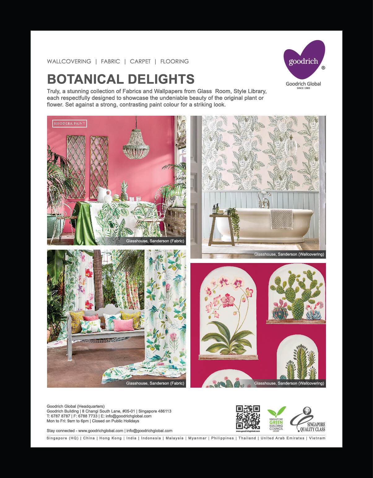 Fabrics from Indoor-Outdoor collection, Maria Flora